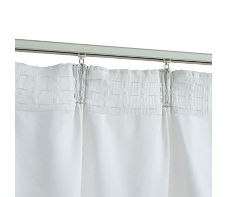 vidaxl rideaux occultants avec crochets 2 pcs blanc casse 140x225 cm