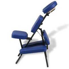 Massage Chair Portable Lift Alberta Blue Foldable And Vidaxl Au