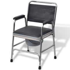 Commode Chair Uk Wheelchair Accessories Australia Vidaxl Steel Black Co