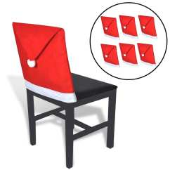 Christmas Chair Covers Big W Beach Chairs With Cup Holders 6 Santa Claus Hat Back Vidaxl Co Uk