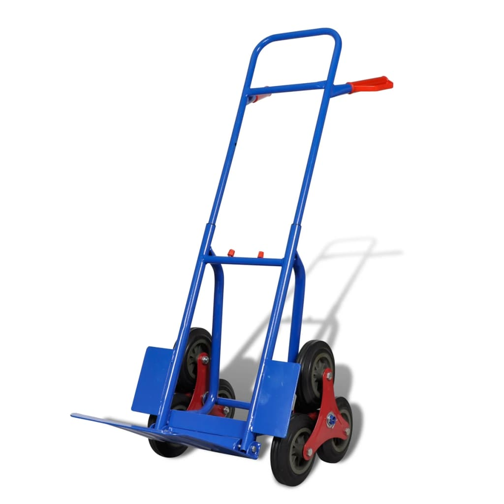 fishing chair hand wheel picnic time portable folding sports 6 blue red sack truck with 150 kg capacity vidaxl