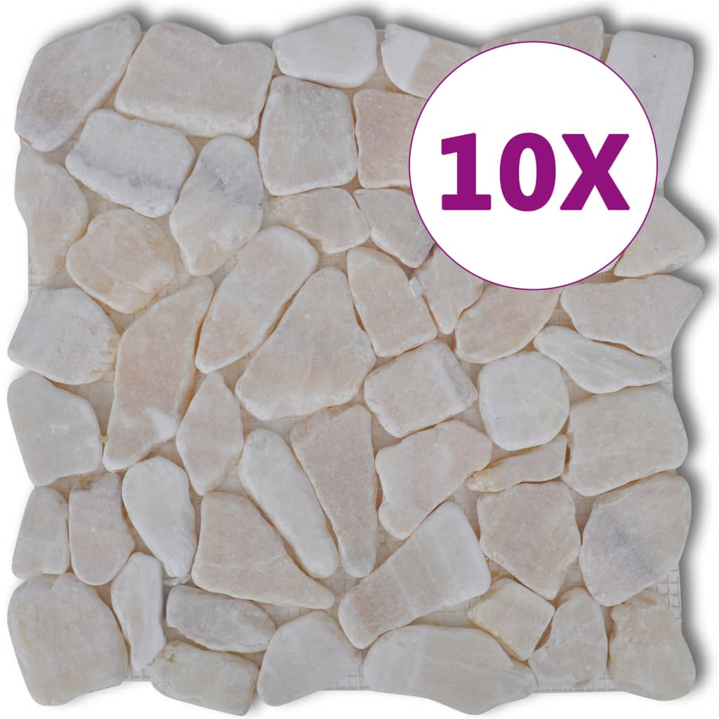 Mosaik Granit Stone Mosaic Tiles Marble Gold 9 M2 Vidaxl Co Uk