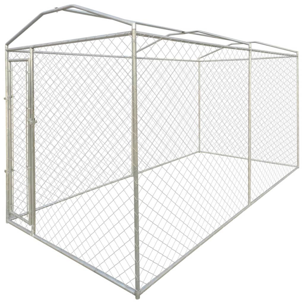 Heavy Duty Outdoor Dog Kennel With Canopy Top 200 X 400 X