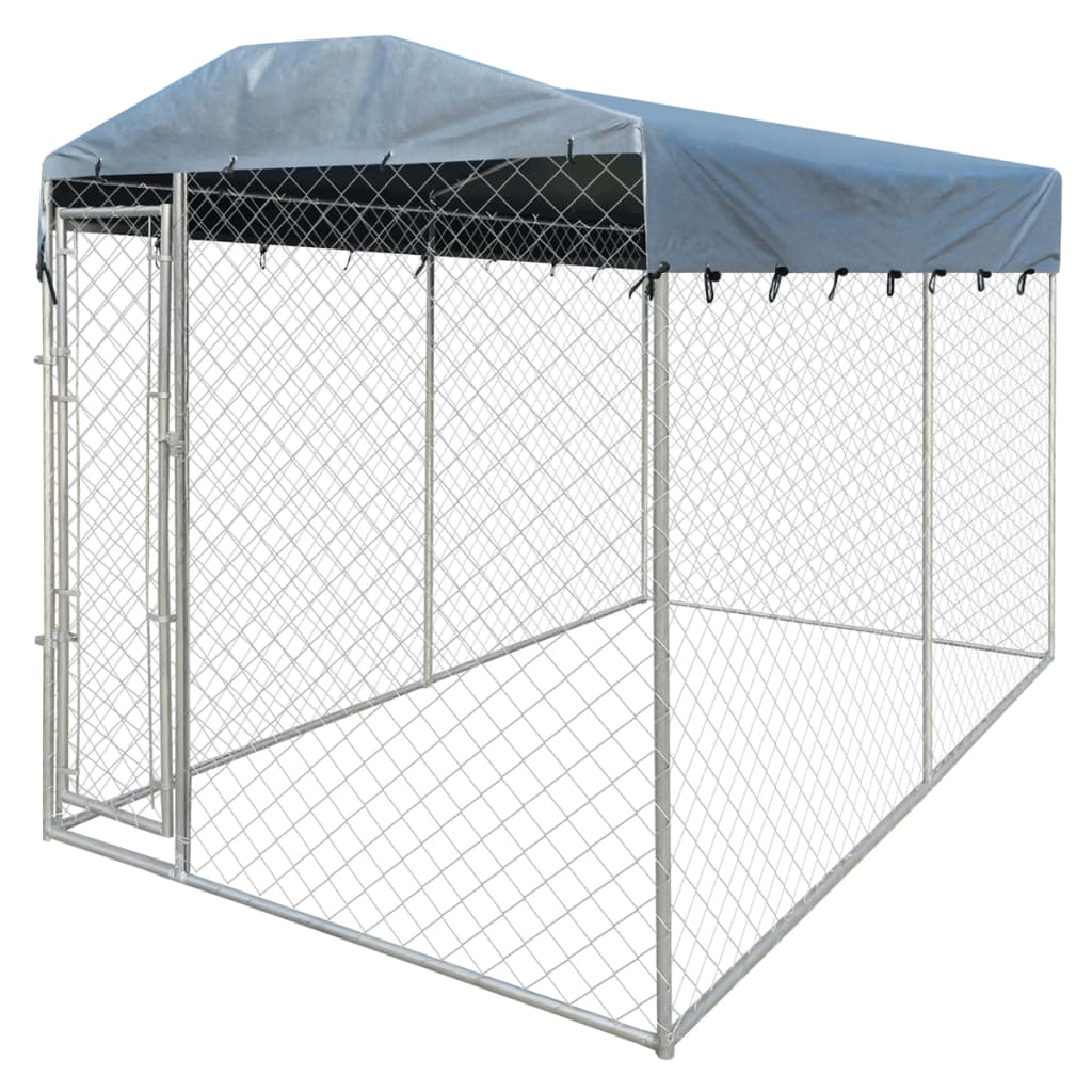 Heavyduty Outdoor Dog Kennel with Canopy Top 200 x 400 x
