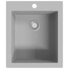 Overmount Kitchen Sink Copper Faucets Kohler Single Basin Granite Grey Vidaxl