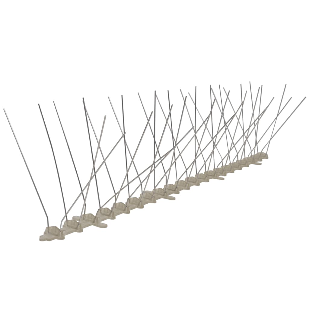 4-reihige Kunststoff Vogel- & Taubenabwehr-Spikes 6er Set