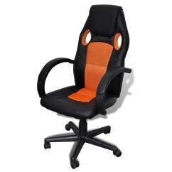 Hair On Hide Office Chair Covers Sydney Buy Executive Professional Orange Vidaxl