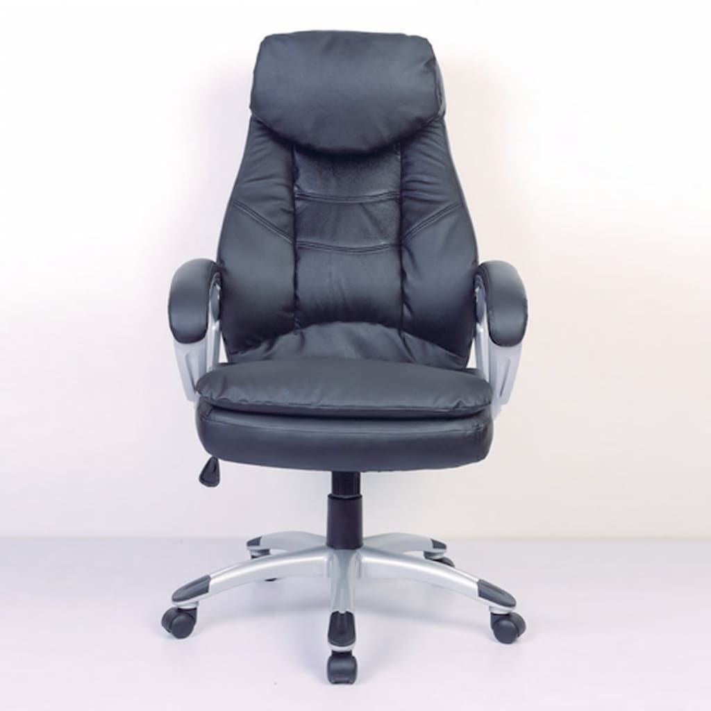 Real Leather Office Chair Black Office Chair Real Leather Vidaxl