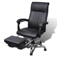 Black Leather Desk Chairs Lumbar Support For Office Chair Artificial With Adjustable