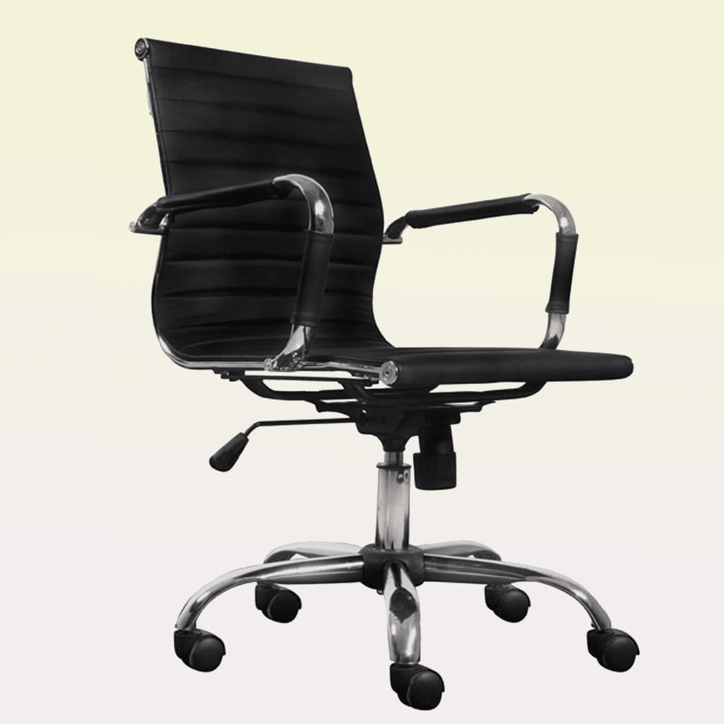 Black Office Chairs Black Leather Office Chair Vidaxl