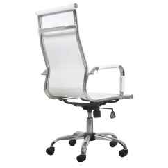 Office Chairs White Leather Genuine Club Chair And Ottoman High Back Vidaxl