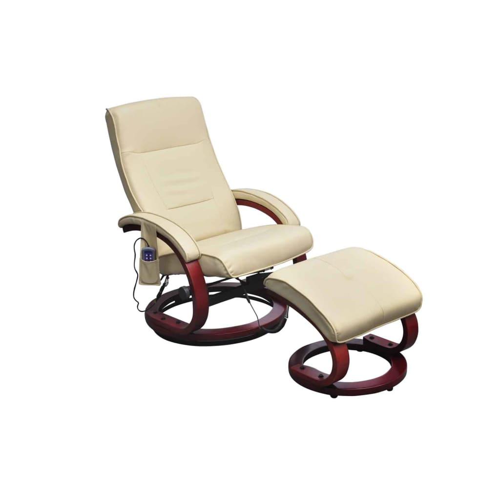 baby massage chair and half sleeper sofa electric tv recliner cream white vidaxl au