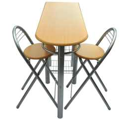 Bar Table Chairs Gaming With Speakers Kitchen Breakfast And Set Wood