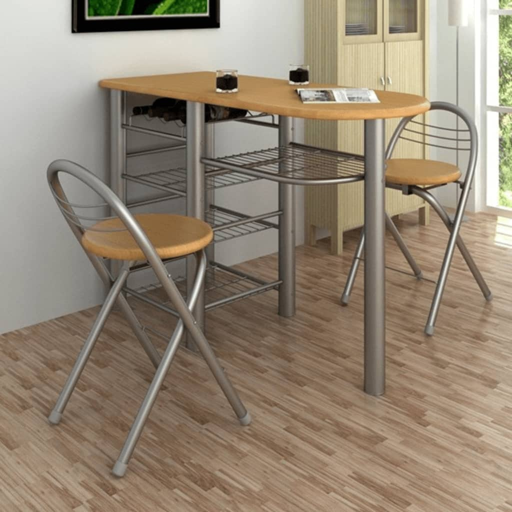 bar table for kitchen green countertops breakfast and chairs set wood www