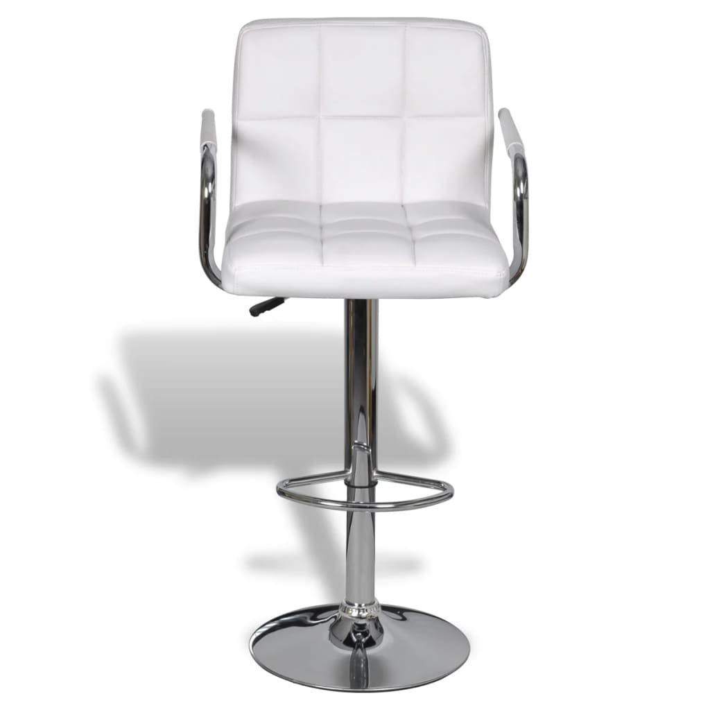 white leather bar chair cool dining room chairs vidaxl 2x stool kitchen arm