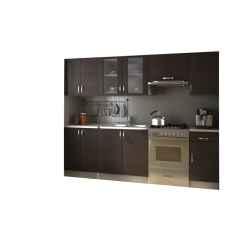 Kitchen Cabinet Unit Black Appliances Set 2 4m Walnut Dark Brown Vidaxl Co Uk