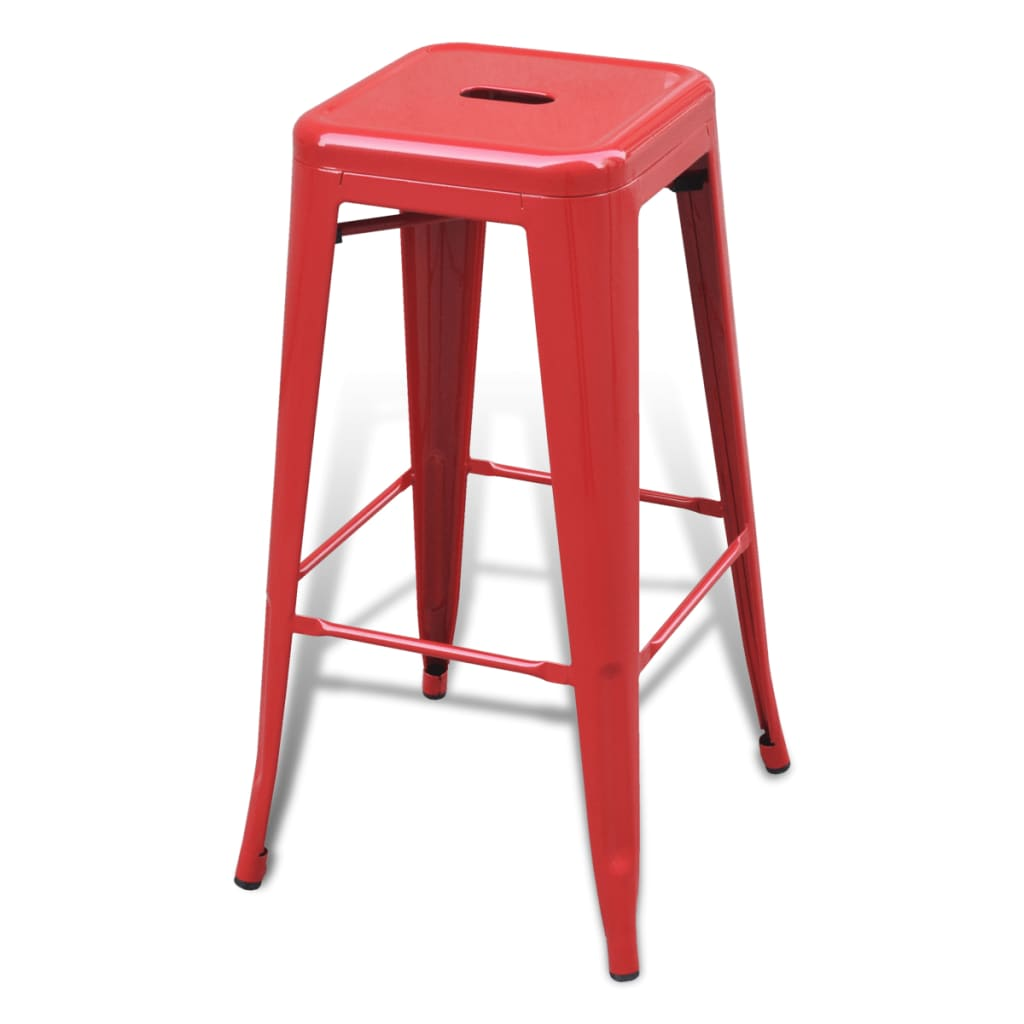 high chairs uk wine barrel pacheco bar chair stools square 2 pcs red vidaxl
