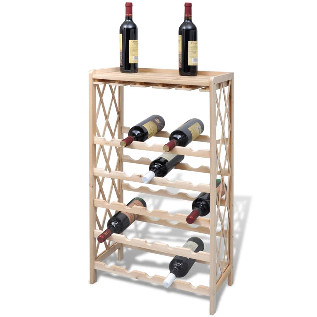 Wood Wine Rack Wine Shelf Storage For 25 Bottles  Vidaxl