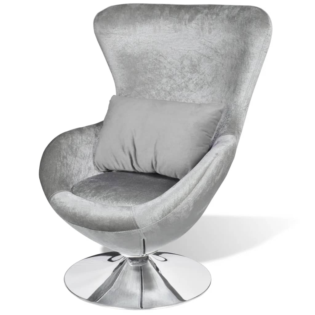 egg chair cushion single recliner covers small silver swivel with vidaxl au