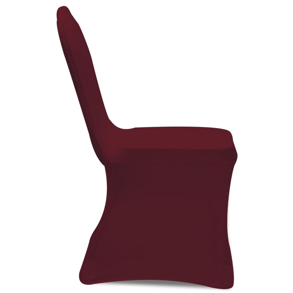 chair covers set of 6 bar slipcovers cover stretch burgundy pcs vidaxl co uk