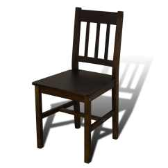 Wooden Restaurant Chairs Folding Chair In Pakistan Dining Table With 4 Brown Vidaxl Co Uk