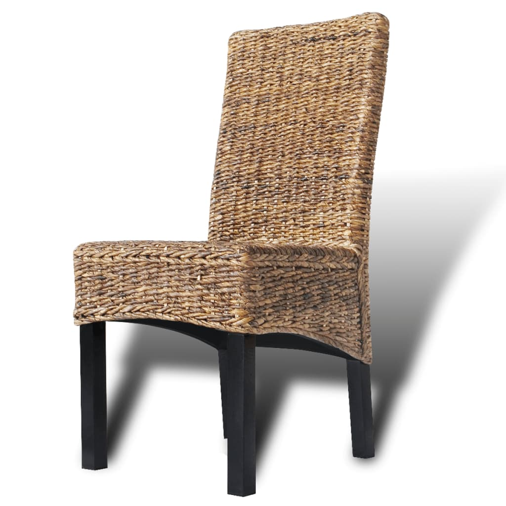 Woven Chair Vidaxl Rattan Woven Side Chairs 2 Pcs Abaca Brown Vidaxl
