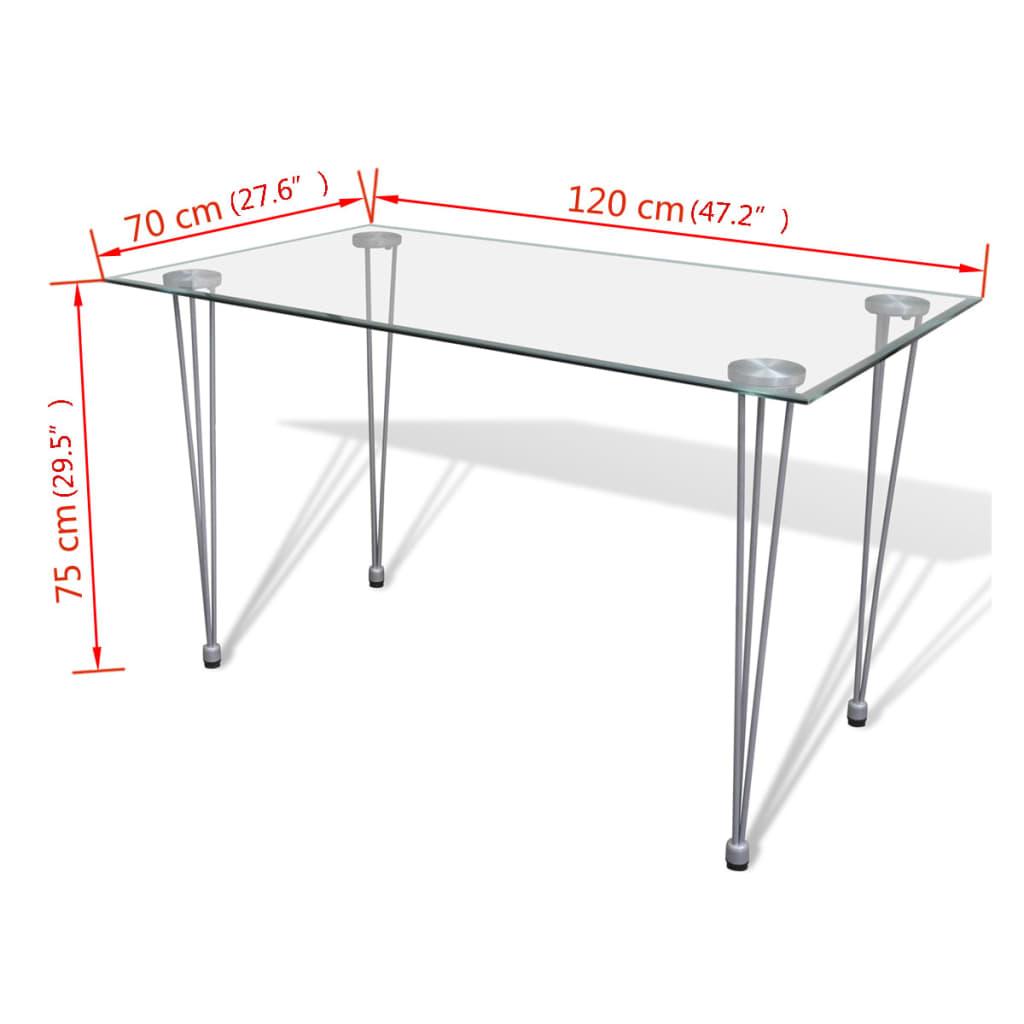 Tavolo da Pranzo con Piano Superiore in Vetro Trasparente