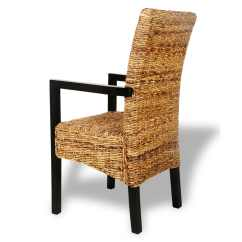 Dining Chair With Armrest Sears Outdoor Lounge Chairs Handwoven Abaca Armrests 2 Pcs Vidaxl