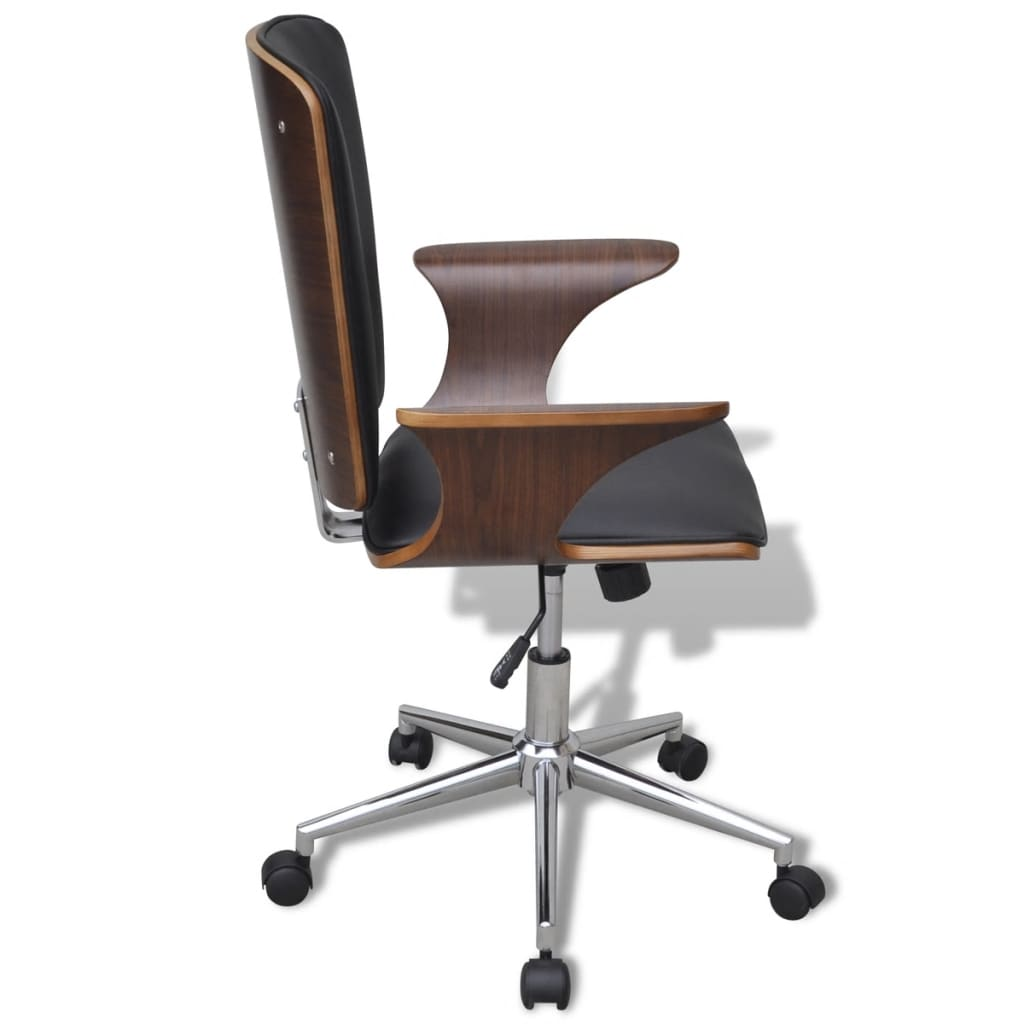hair on hide office chair old plastic school chairs swivel bentwood with artificial leather