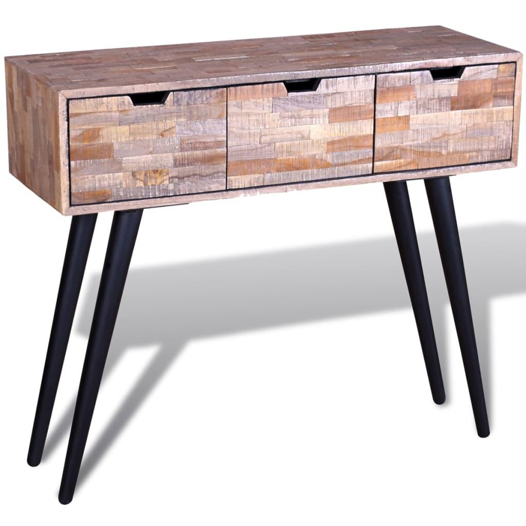 teak sofa table simplicity sofas company console reclaimed vidaxl co uk