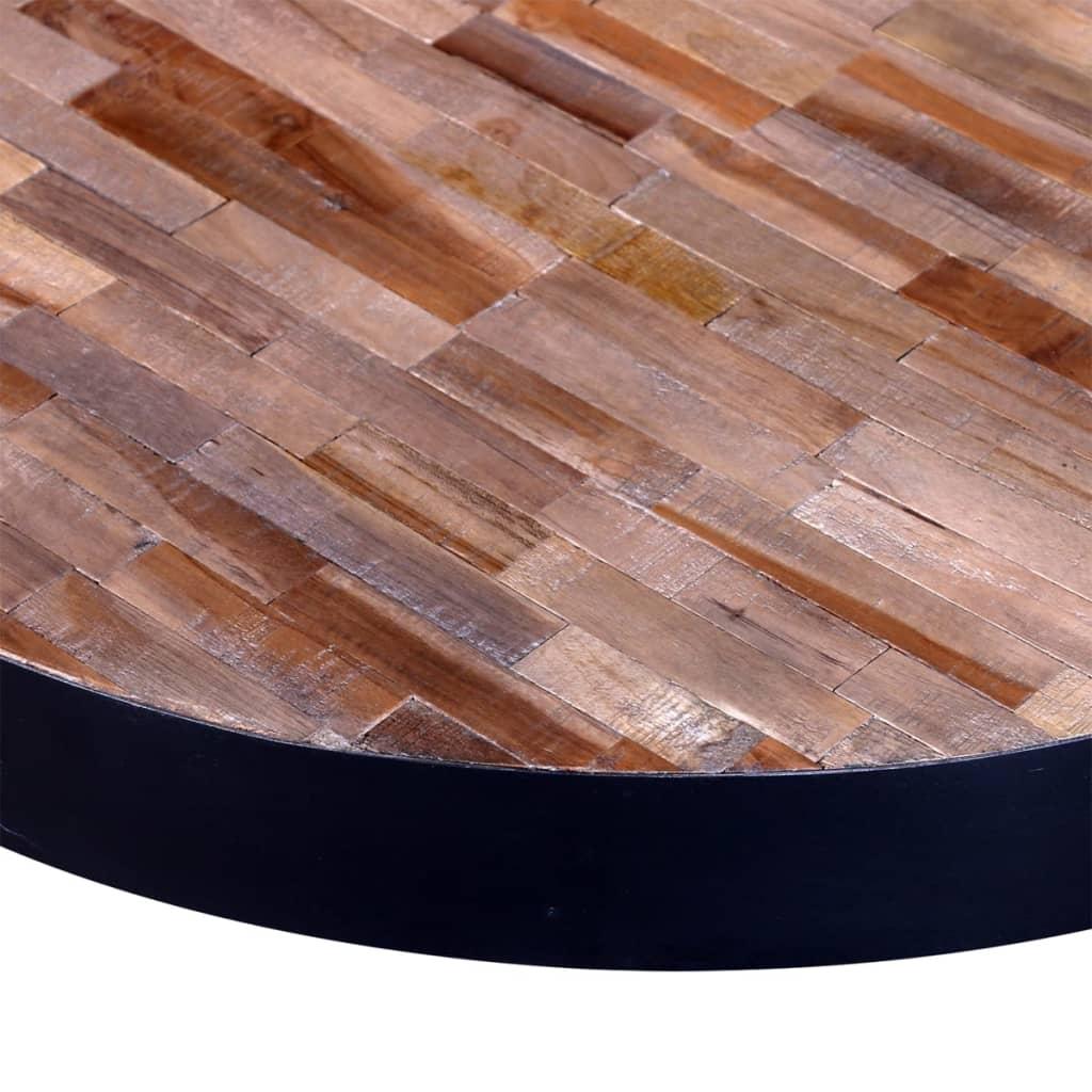 Okrgy stolik do kawy z regenerowanego drewna sklep