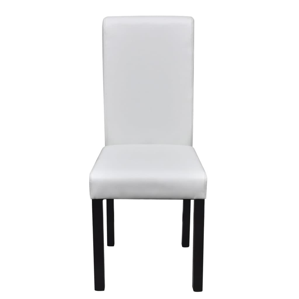 Sedie Da Cucina Bianche : Sedie in pelle bianca sedie da sala pranzo tavolo soggiorno