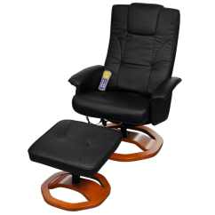 Black Massage Chair Memory Foam Cushion Target Electric Artificial Leather With