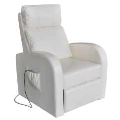 White Chair Covers Amazon Smallest Folding Artificial Leather Electric Massage Vidaxl Co Uk