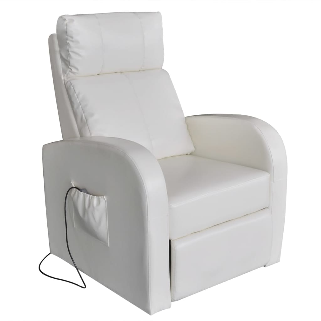 chair covers amazon uk pottery barn black windsor chairs white artificial leather electric massage vidaxl co