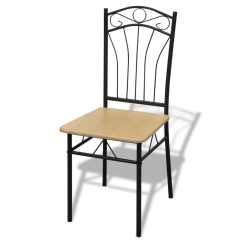 Chair Photo Frame Hd Garden Hanging Covers 4 Dining Chairs With Steel Light Brown Vidaxl