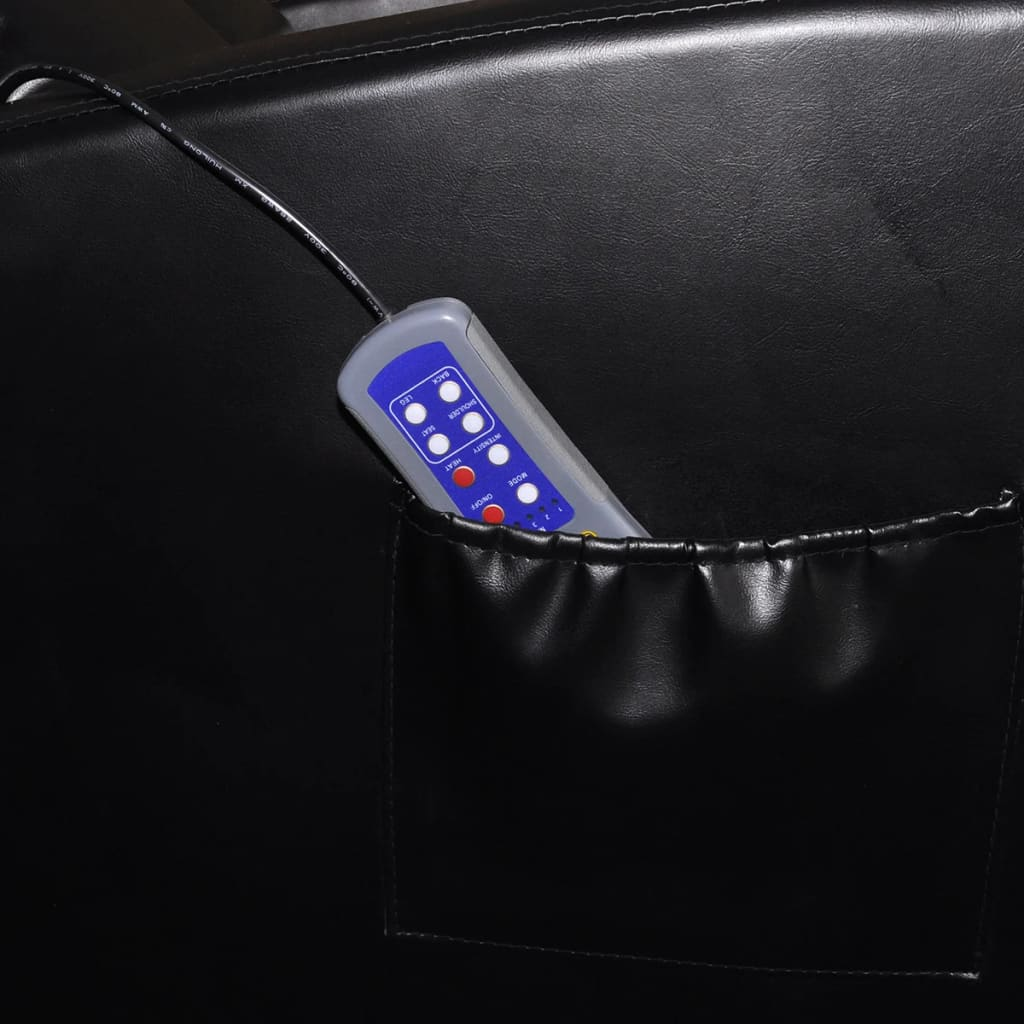 black massage chair restaurant high chairs electric with remote control vidaxl