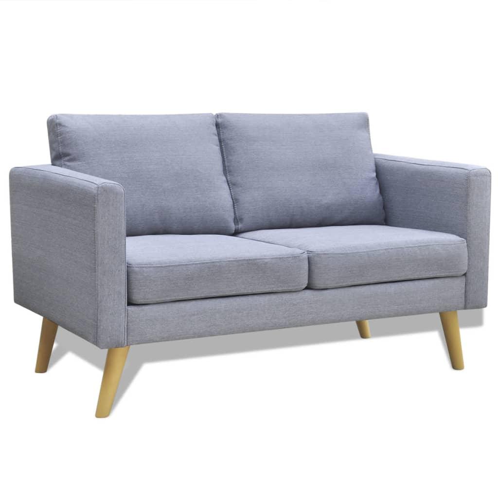 light gray fabric sectional sofa best way to wash pillows grey 2 seater vidaxl au