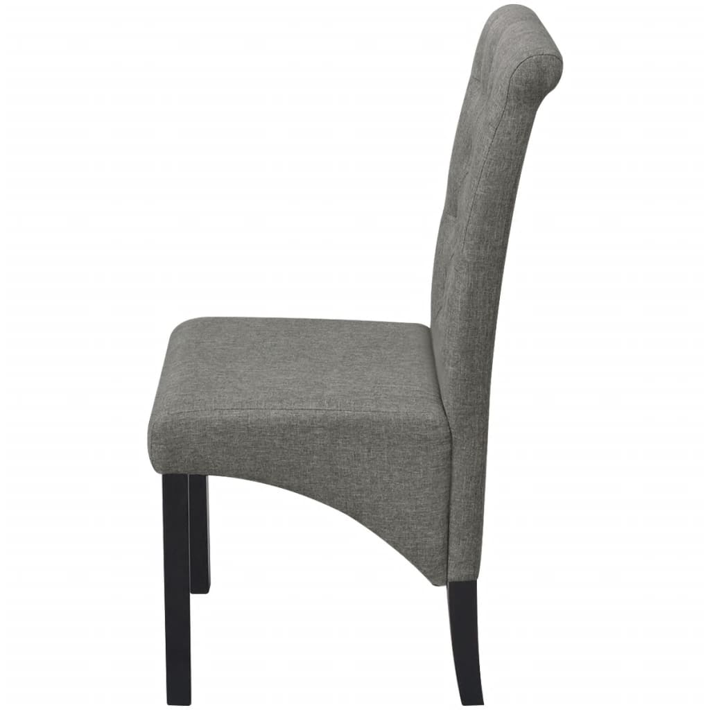 Dark Grey Dining Chairs 2 Dining Chairs Fabric Upholstery Dark Grey High Back