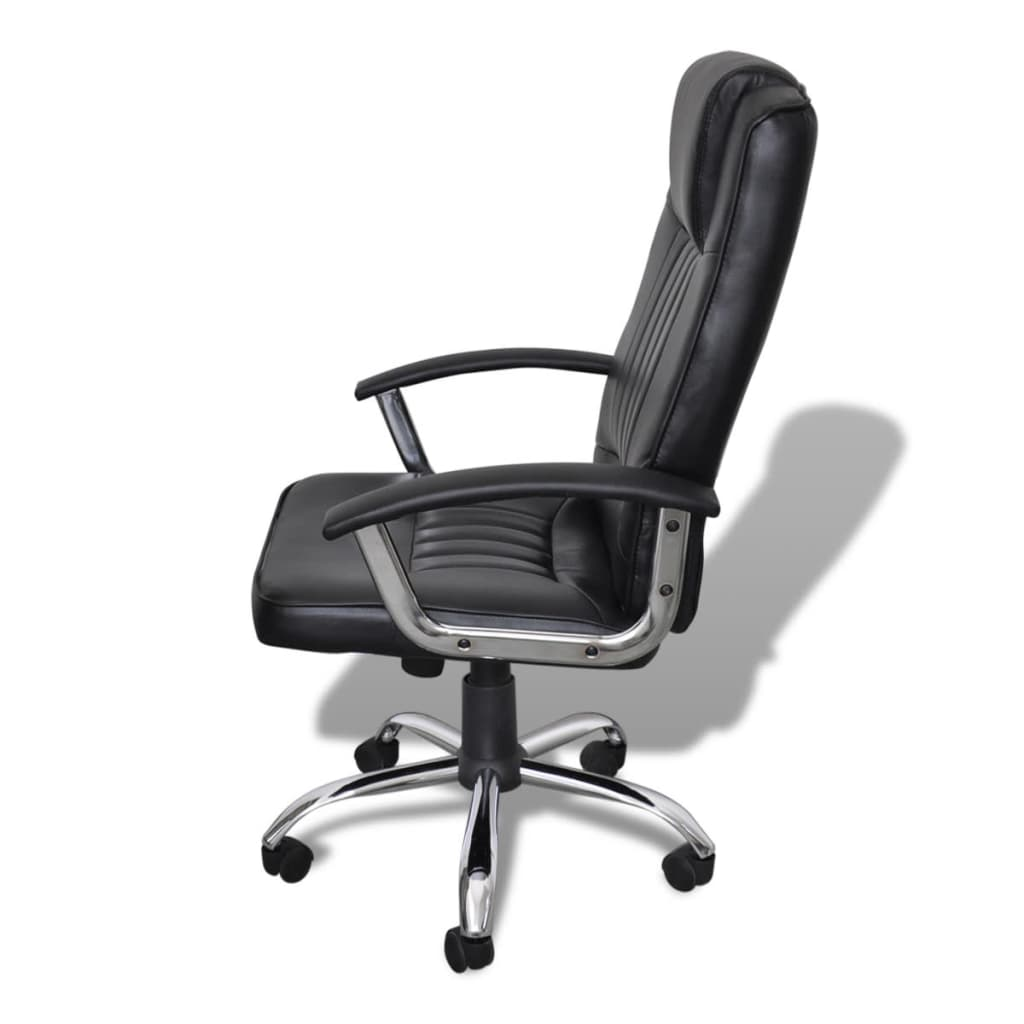 desk chair height restaurant high luxury office adjustable swivel seat black
