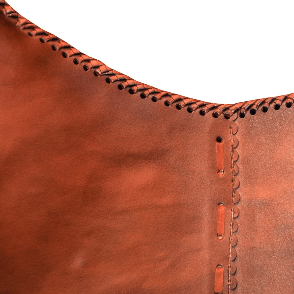 Brown Leather Butterfly Chair Real Leather Butterfly Chair Vintage Retro Vidaxl Au