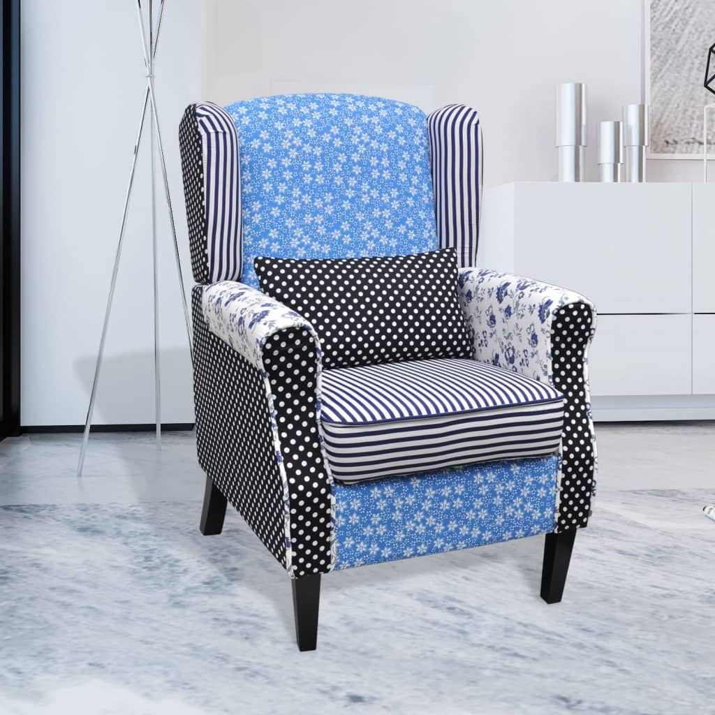 Patchwork Relax Armchair Country Living Style