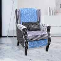 Patchwork Relax Armchair Country Living Style | vidaXL.com