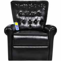 Black Massage Chair Office Autocad Block Electric Artificial Leather Recliner