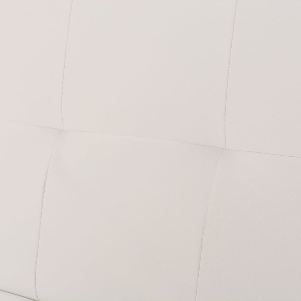 throws for cream leather sofa best recliner bed with two pillows adjustable white vidaxl