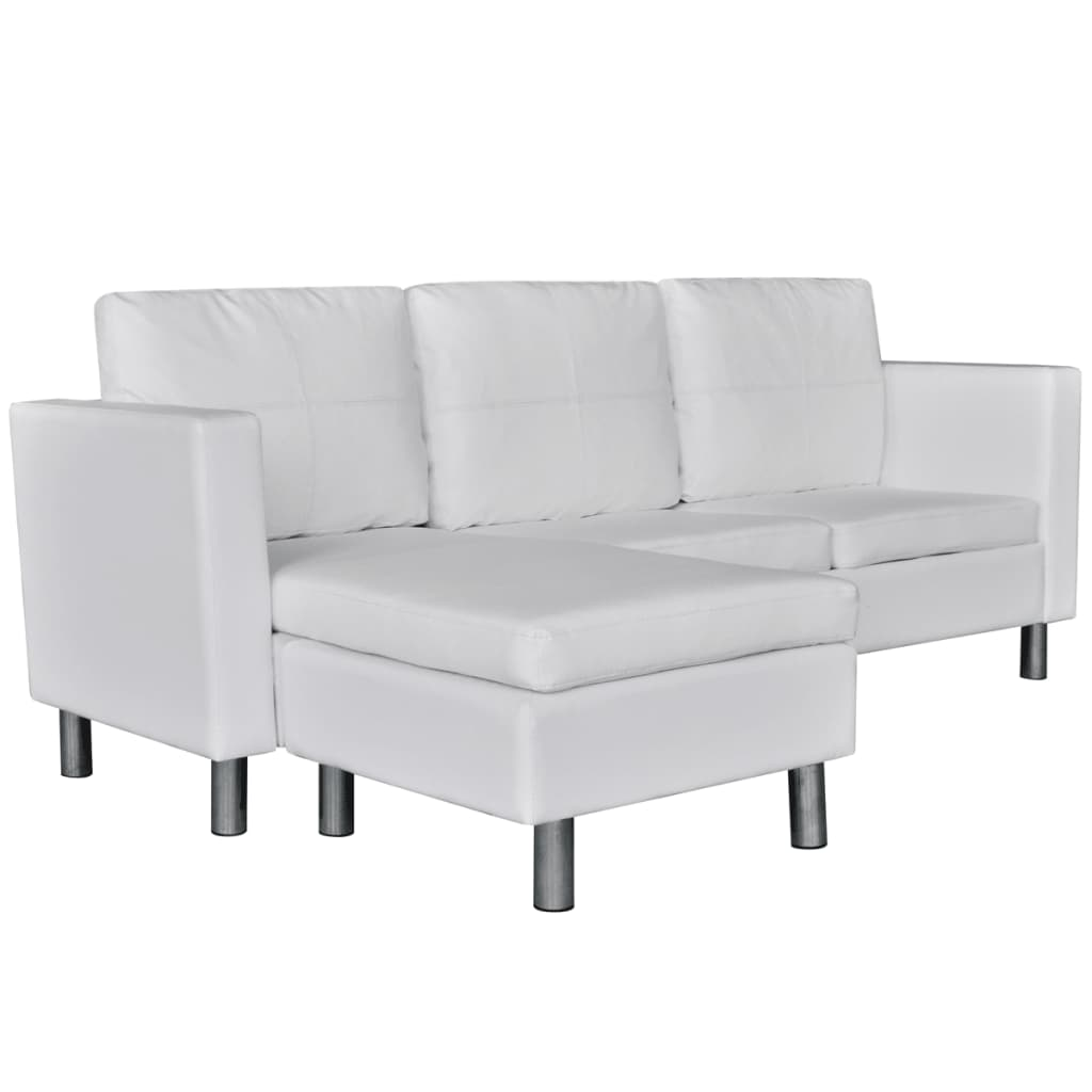 3 seater sofa photos round set manufacturers l shaped artificial leather sectional white