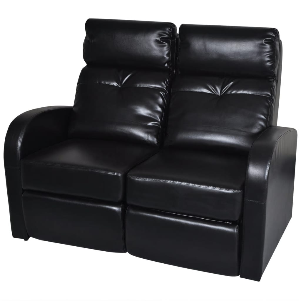 Home Theater 2Seat Recliner Artificial Leather Lounge