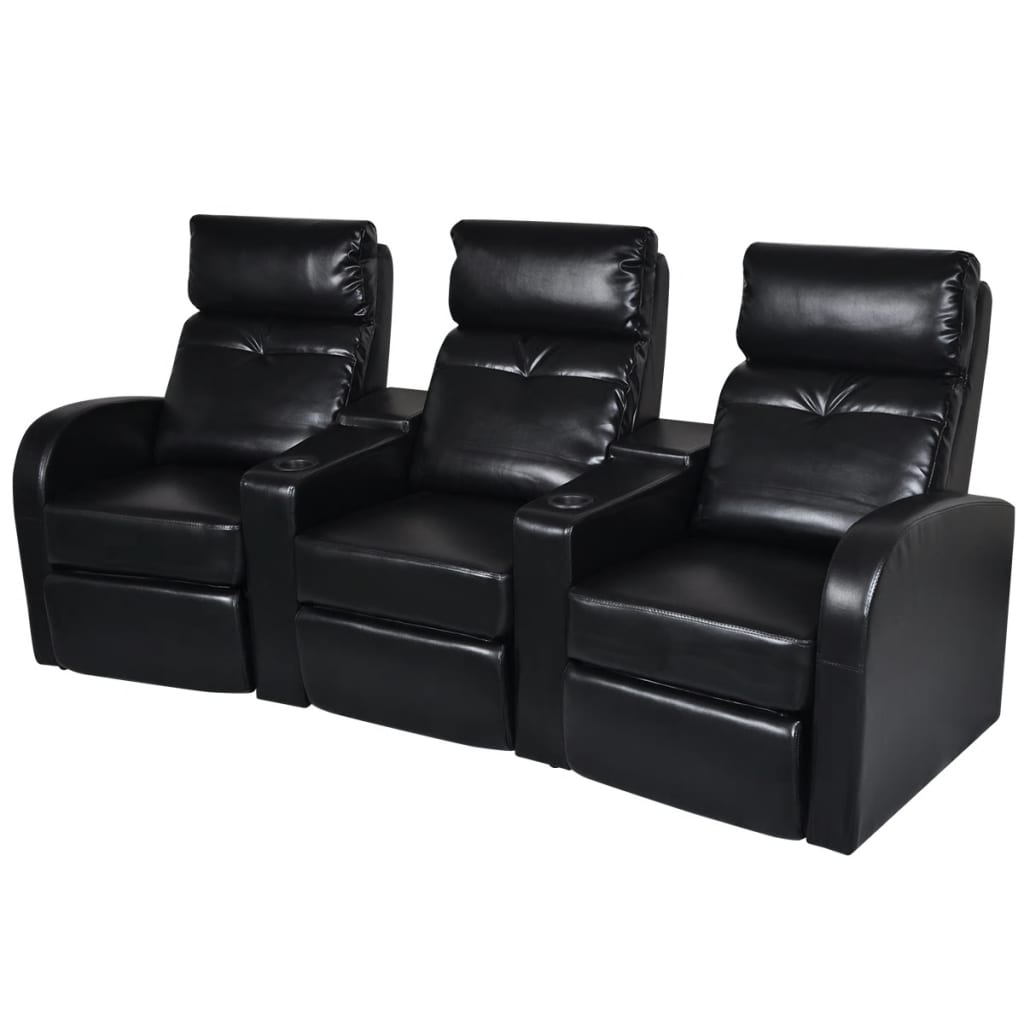 home theater leather sofa sofas with down cushions artificial 3 seat recliner
