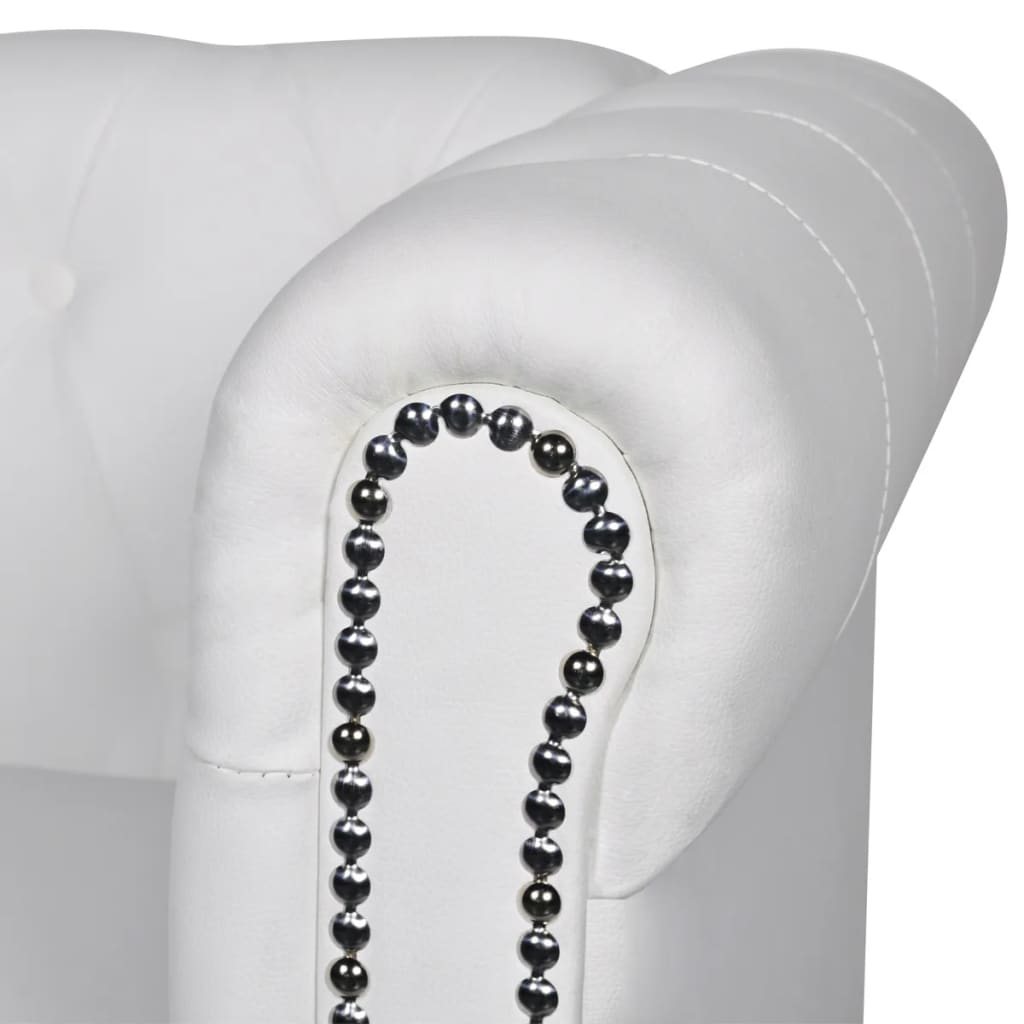 chesterfield sofa leather white french country fabric artificial 2 seater