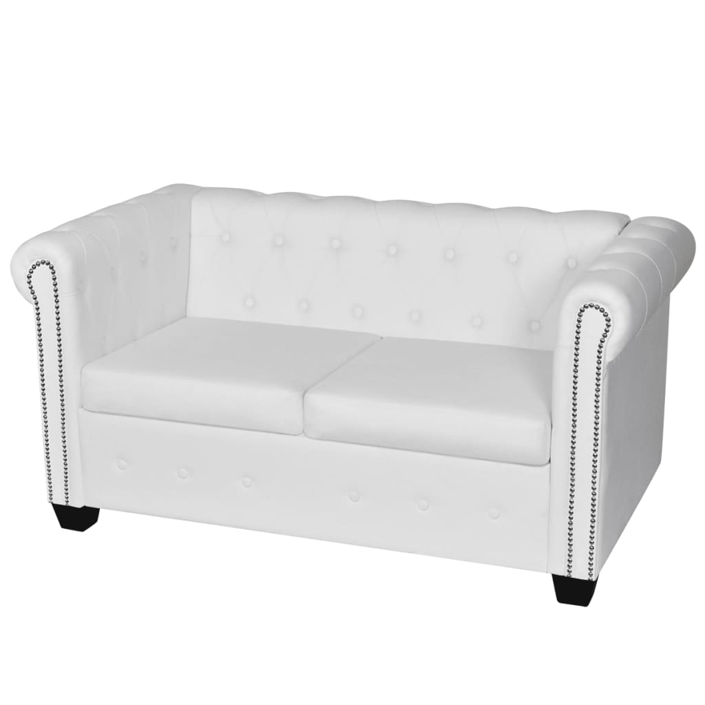 chesterfield sofa leather white modern los angeles artificial 2 seater